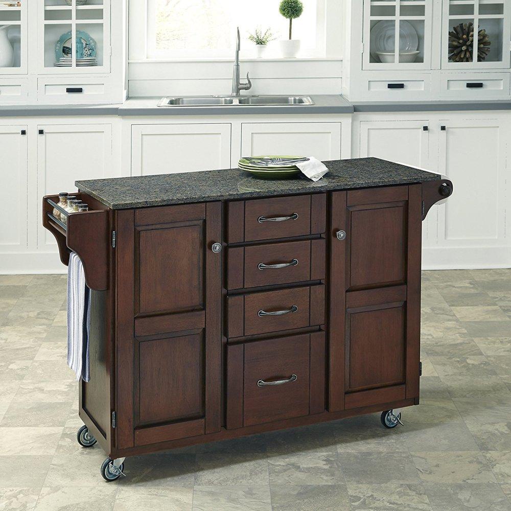 Create-a-Cart in Rustic Cherry Finish 9100-0708