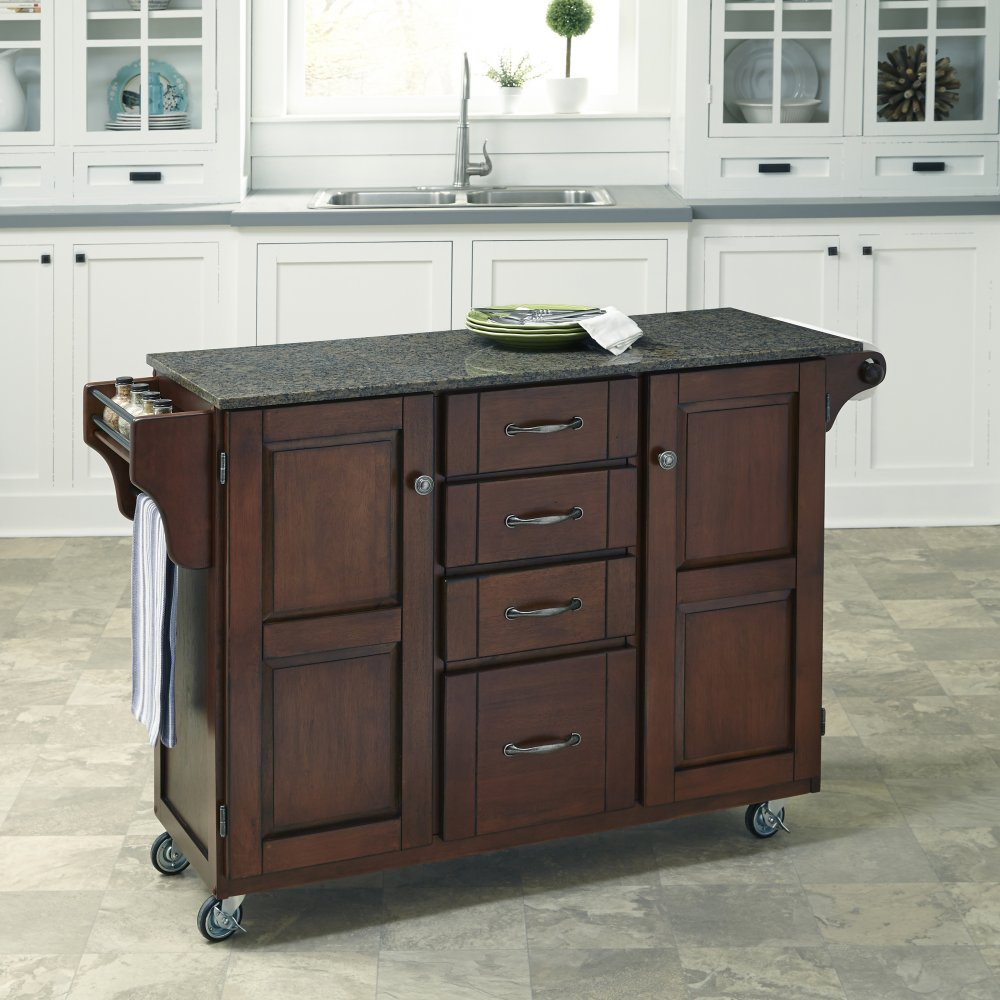 Create-a-Cart in Rustic Cherry Finish 9100-0710