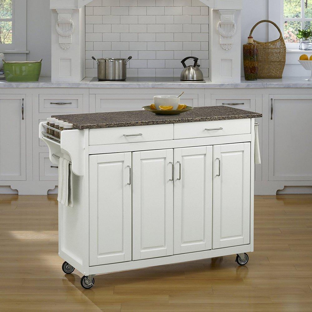 Create-a-Cart in White Finish 9200-10208