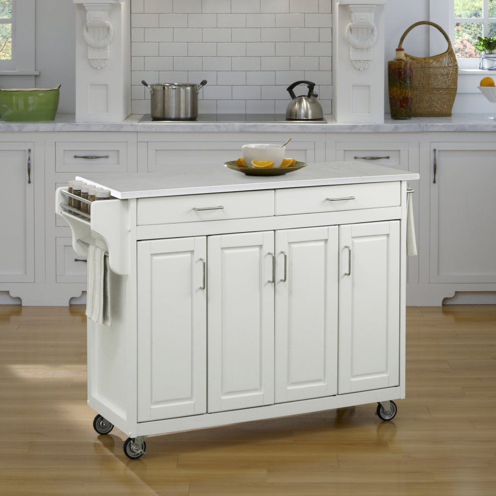 Create-a-Cart in White Finish 9200-10210